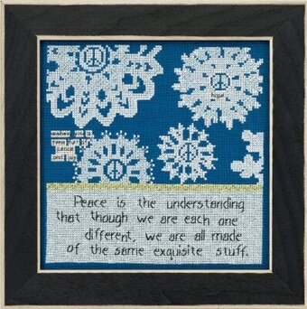 Peace (Curly Girl Design) - Beaded Cross Stitch Kit