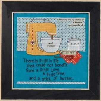 Stick of Butter (Curly Girl Design) - Cross Stitch Kit