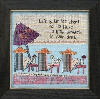 Life's Too Short - Beaded Cross Stitch Kit
