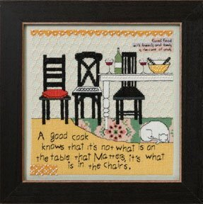 In the Chairs (Curly Girl Design) - Beaded Cross Stitch Kit