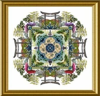 Japanese Moss Garden Mandala, The - Cross Stitch Pattern