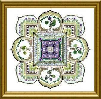Violet Patch Mandala, The - Cross Stitch Pattern