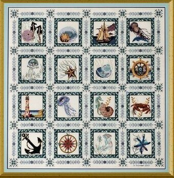 Sea Quilt - Cross Stitch Pattern