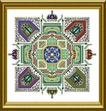 Royal Tudor Mandala - Cross Stitch Pattern