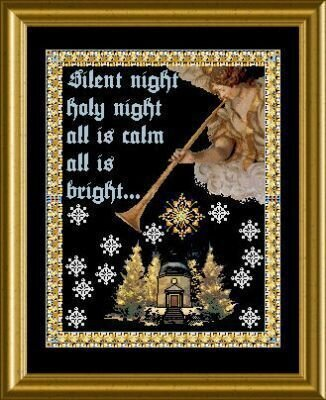 The Music Angel Stille Nacht - Cross Stitch Pattern
