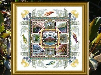 Chinese Garden Mandala, The - Cross Stitch Pattern