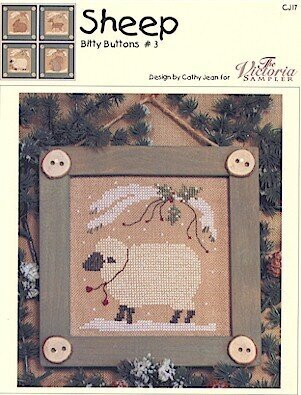 Sheep (Bitty Buttons #3) - Cross Stitch Pattern