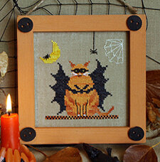 Fat Bat Cat: Halloween Bitty Buttons #2  - Stitch Pattern