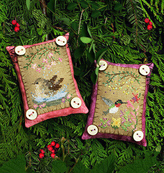 Button Up Birdies 5 - Cross Stitch Pattern