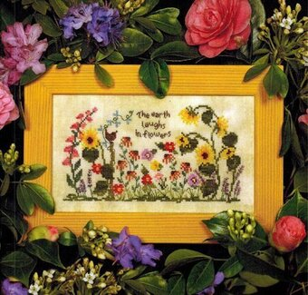 Laughing in Flowers - Cross Stitch Pattern