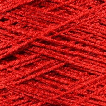 Needloft Craft Yarn 20 Yard Card - Red