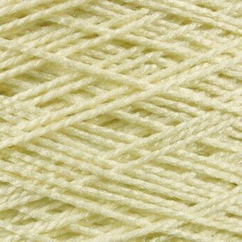 Needloft Craft Yarn 20 Yard Card - Eggshell