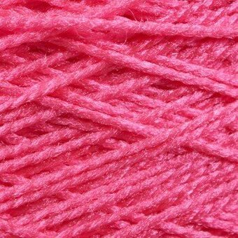 Needloft Craft Yarn 20 Yard Card - Bright Pink