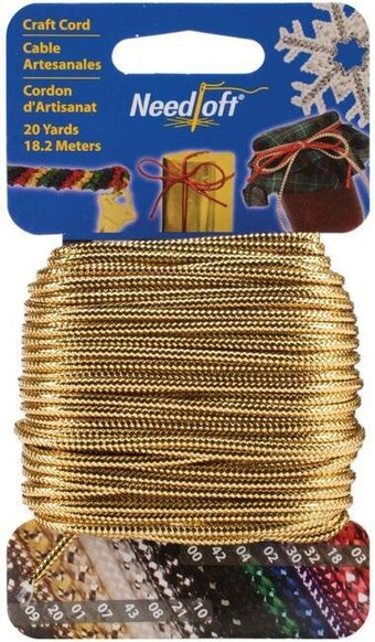 Needloft Craft Cord 20 Yard - Metallic Gold