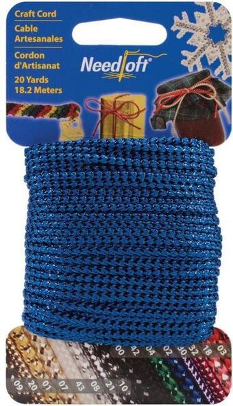 Needloft Craft Cord 20 Yard - Metallic Blue