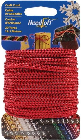 Needloft Craft Cord 20 Yard - Metallic Red