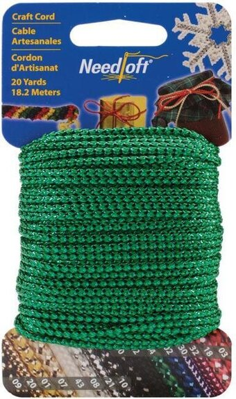 Needloft Craft Cord 20 Yard - Metallic Green