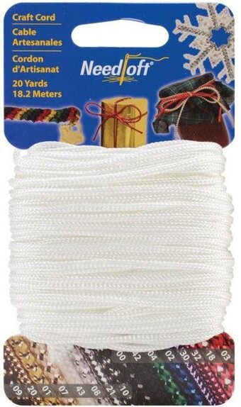 Needloft Craft Cord 20 Yard - Solid White