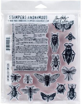 Tim Holtz Cling Mount Stamps - Entomology