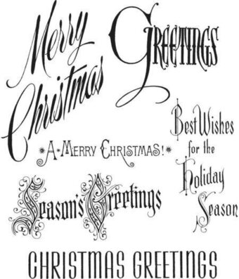 Christmastime - Tim Holtz Christmas Cling Stamp