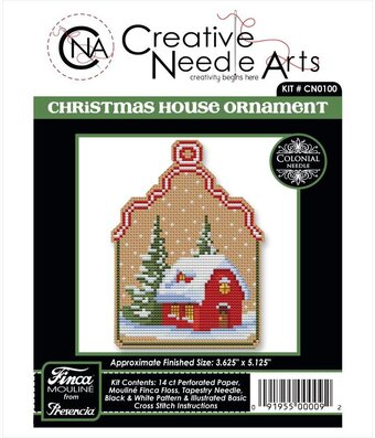 House Christmas Ornament - Counted Cross Stitch Kit
