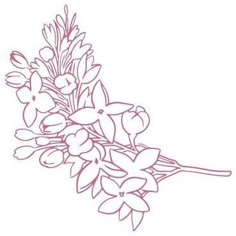 Lilac Wildflowers Mini - Rubber Stamp