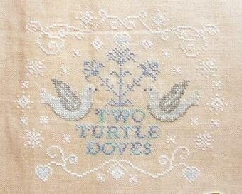 Cottage Garden Samplings Two Turtle Doves Cross Stitch
