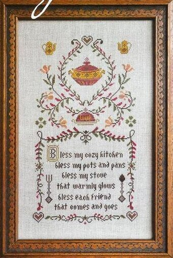 Kitchen Prayer - Cross Stitch Pattern