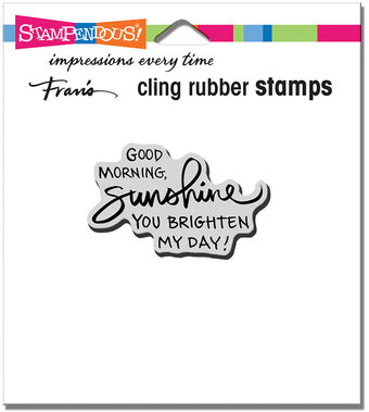Morning Sunshine - Cling Rubber Stamp