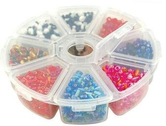 "Storage Organizer Boxes 4"" 8 Compartments"