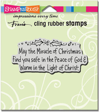 May The Miracle - Christmas Cling Rubber Stamp
