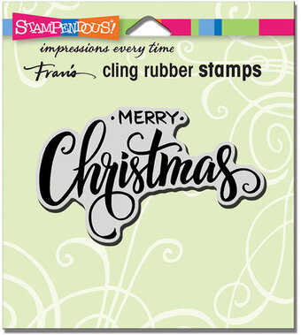 Merry Greeting - Cling Rubber Stamp