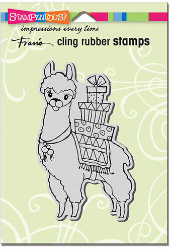 Llama Delivery - Cling Rubber Stamp