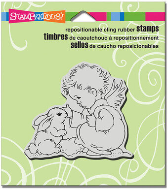 Bunny Cherub - Cling Rubber Stamp