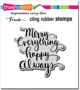 Merry Always - Christmas Cling Rubber Stamp