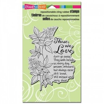 Those We Love - Cling Rubber Stamp
