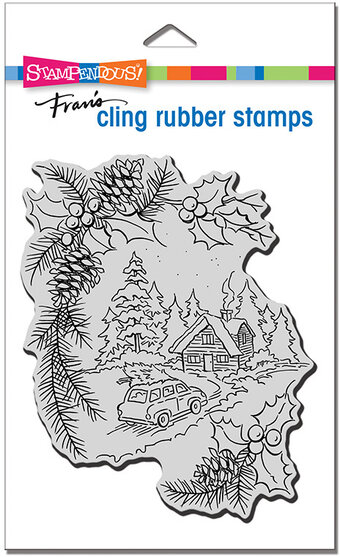 Pine Cabin - Cling Stamp