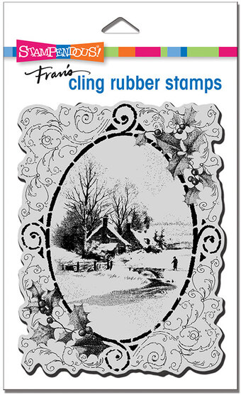 Vintage Vignette - Winter Cling Stamp