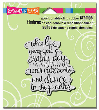 Cute Boots   Cling Rubber Stamp By Stampendous Making The Best Of A  Difficult Situation Is An Art. Help A Friend To Play In The Puddles.