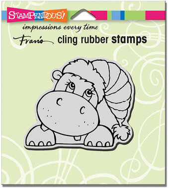Hippo Holiday - Christmas Cling Rubber Stamp