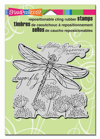 Dragonfly Wings - Cling Rubber Stamp
