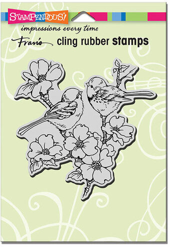 Dogwood Birds - Cling Rubber Stamp