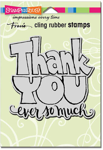 Great Big Thanks - Cling Rubber Stamp