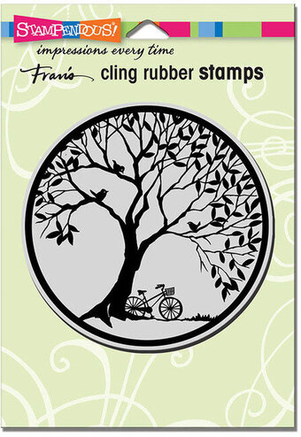Tree Circle CRW201 Stampendous Cling Stamp