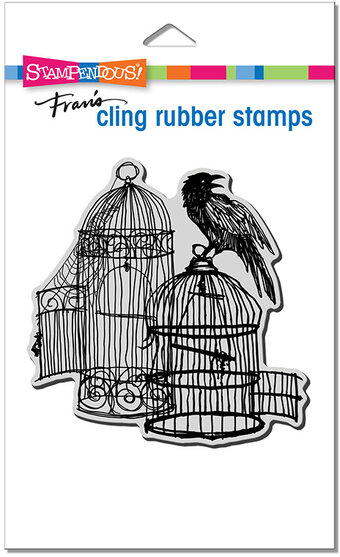 Uncaged Raven - Halloween Cling Stamp