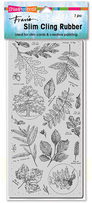 Slim Cling Leafy Trees - Cling Stamp