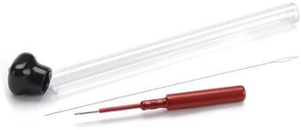 Miniature Punch Embroidery Needle - Red 3-Strand