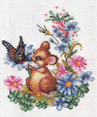 Curious Mouse - Cross Stitch Kit