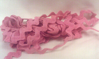 "Watermelon Juice 1/2"" Rick Rack Trim (3 yards)"