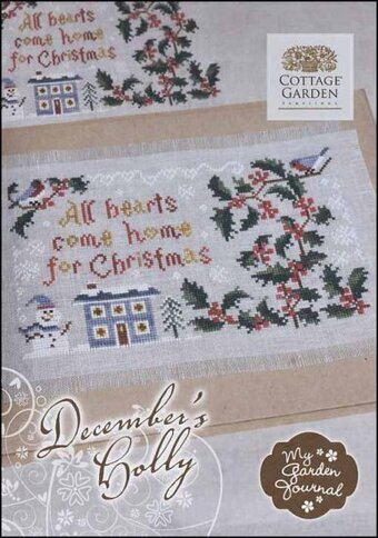 December's Holly - Cross Stitch Pattern